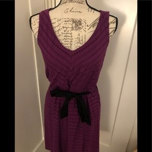 Elle Purple Eyelet Dress Size XS